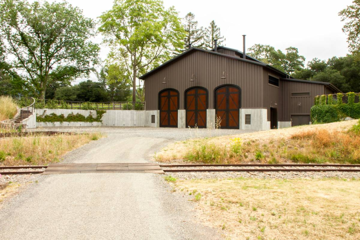 justi creek train barn