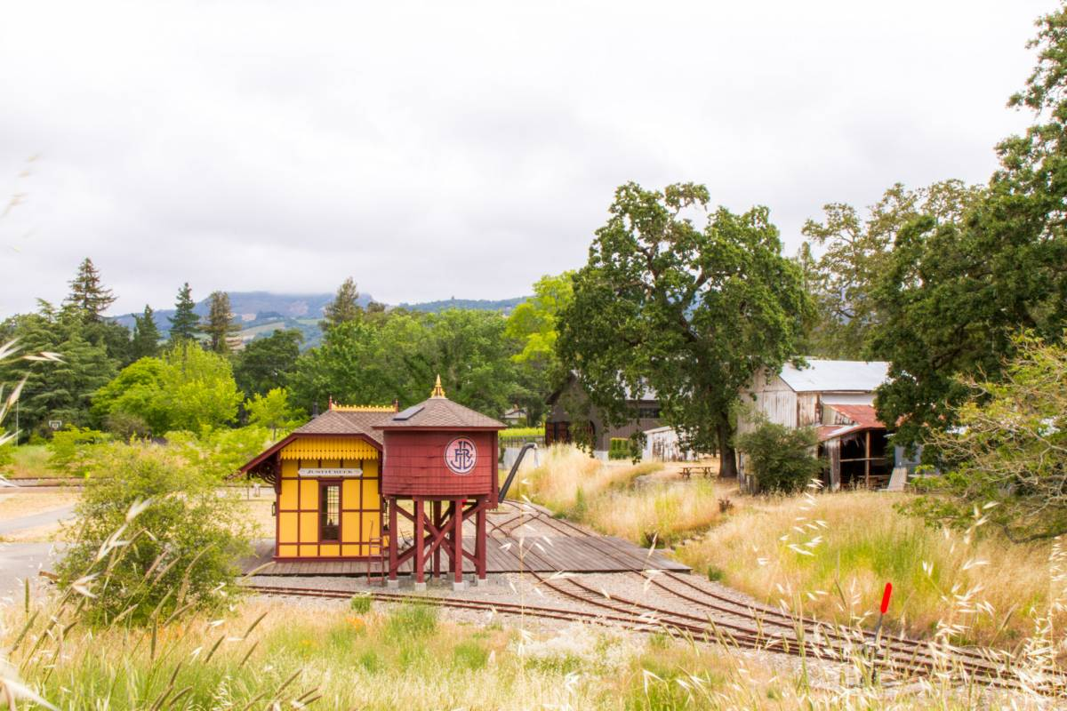 justi creek train station restoration